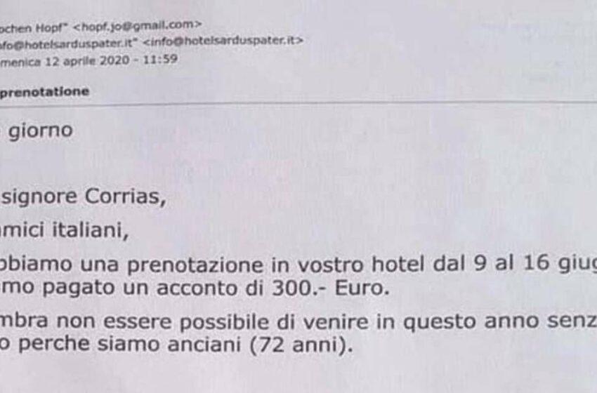 Vacanze in Sardegna annullate, l'email fa il giro del web