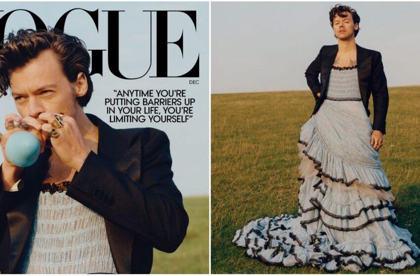 Harry Styles è il primo uomo (in abiti femminili) che conquista la copertina di Vogue USA