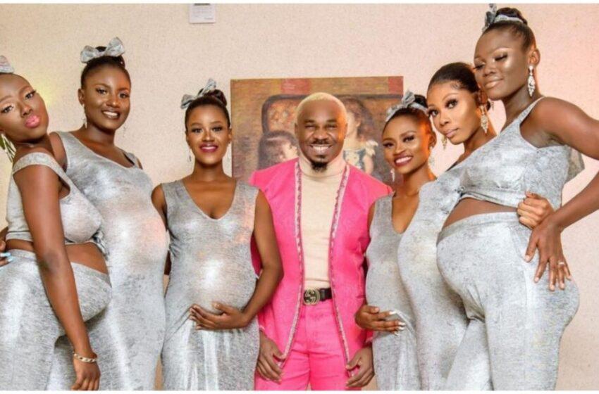 Influencer si presenta a matrimonio Nollywood con sei donne tutte incinte di lui