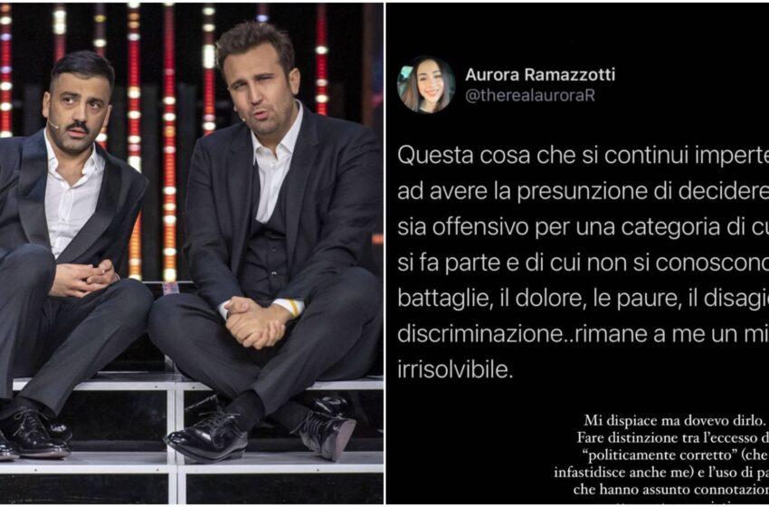 """Aurora Ramazzotti su Pio e Amedeo: """"Usare parole come neg*o e froc*o è sbagliato"""""""