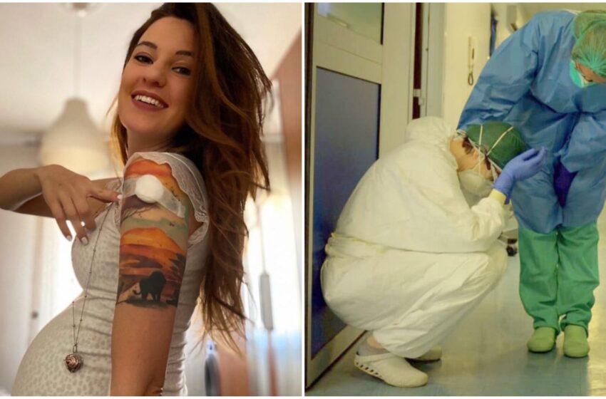 """""""Non smettete di credere nella scienza"""": infermiera incinta si vaccina e conquista il web"""