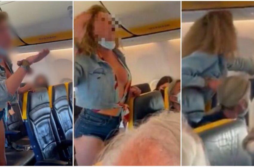 Volo Ibiza-Bergamo, passeggera fuori controllo: insulti, minacce e sputi agli altri viaggiatori