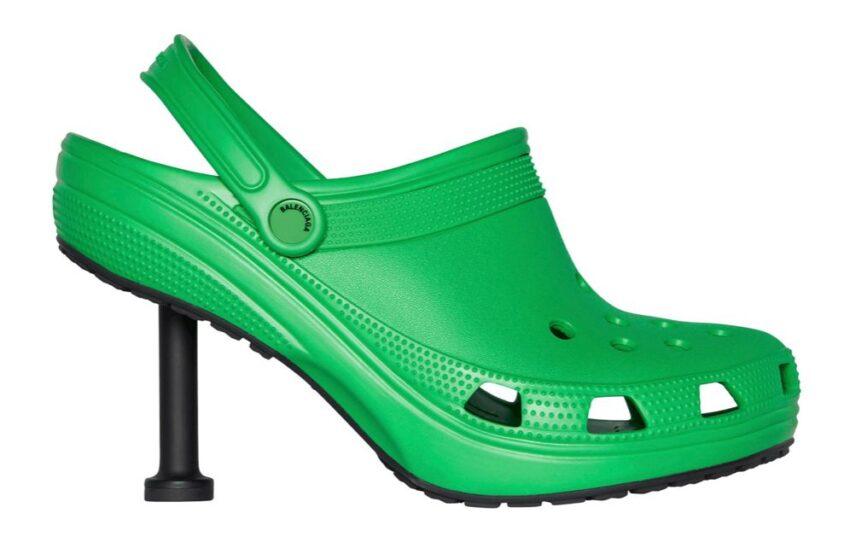 Balenciaga svela i nuovi zoccoli a spillo in collaborazione con Crocs