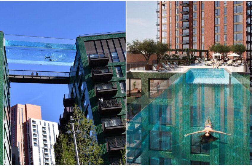 Londra, la favolosa piscina sospesa tra due palazzi diventa emblema di disuguaglianze