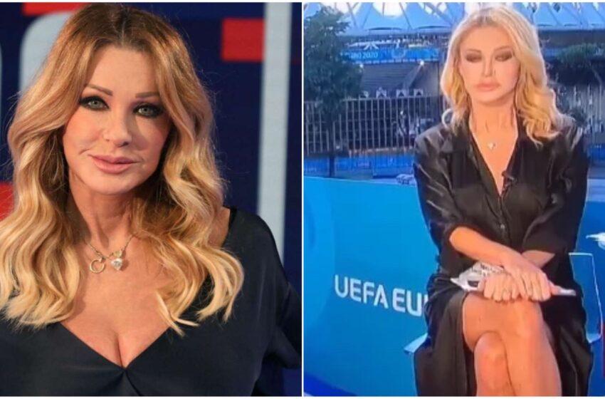 """Europei, bufera su Paola Ferrari: """"Nomi storpiati e in diretta senza mutande"""""""