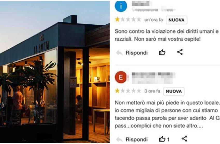 L'ultima mossa dei No-Vax: rovinare i ristoranti Covid Free con recensioni negative