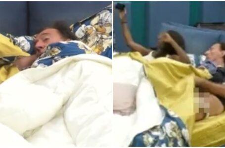 Gf Vip, Amedeo Goria choc: si toglie gli slip mentre è a letto con Ainett Stephens
