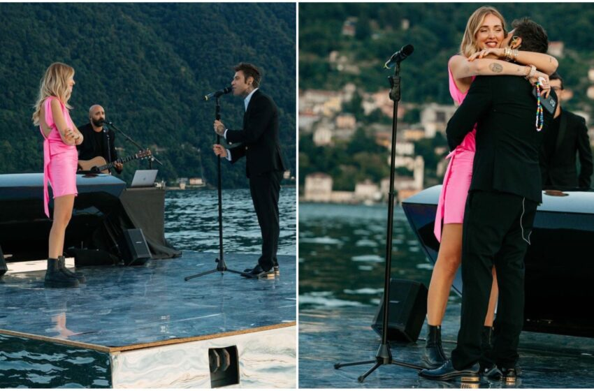Fedez sorprende Chiara: le canta una dedica d'amore sul lago di Como per l'anniversario