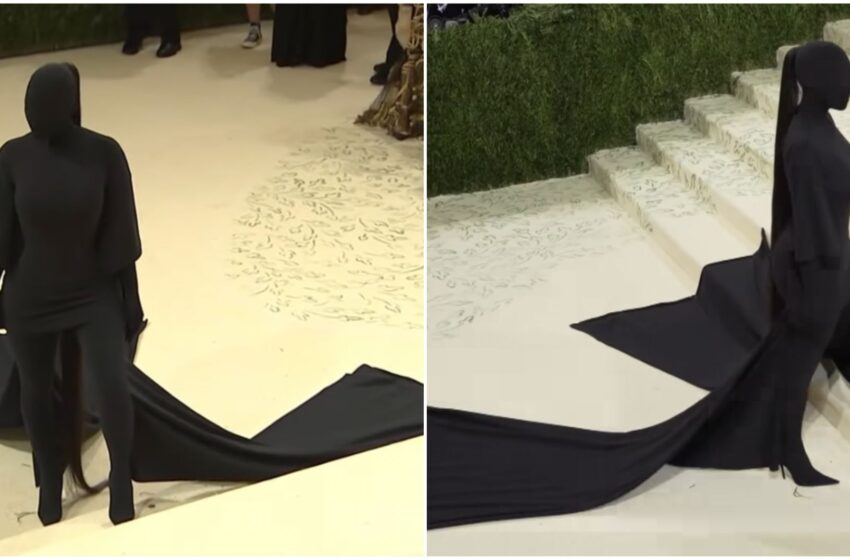 Kim Kardashian conquista il Met Gala con un outfit 'fetish' firmato Balenciaga